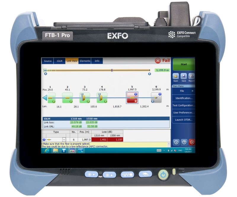 OTDR a vendre  EXFO FTB-1 pro